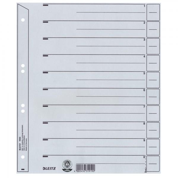Leitz Trennblatt 16500085 DIN A4 200g Karton grau
