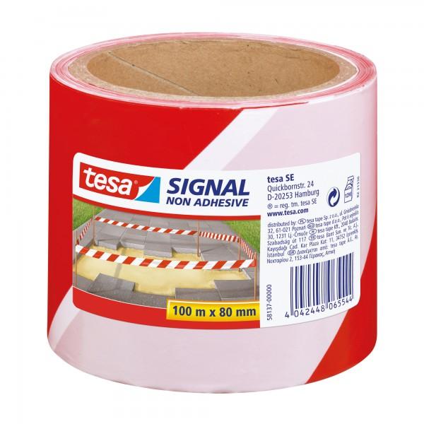 tesa Absperrband Signal 58137-00000 80mmx100m rot/wei