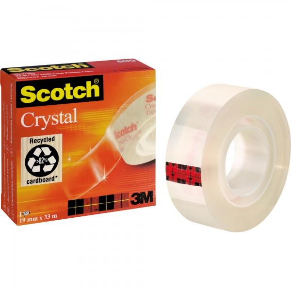 Scotch Klebefilm Crystal Clear 600 C6001933 19mmx33m transparent