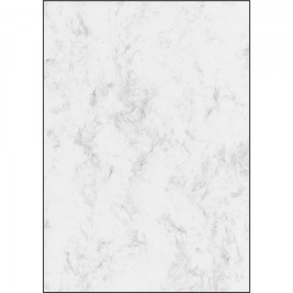 Sigel Marmor-Papiere, grau o. beige, DIN A4, 90 g/qm, Feinpapier (Ink/Laser/Copy), 100 Bl./Pack