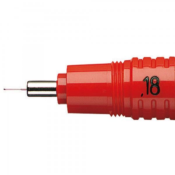 rotring Zeichenkegel rapidograph S0219110 0,18 mm rot