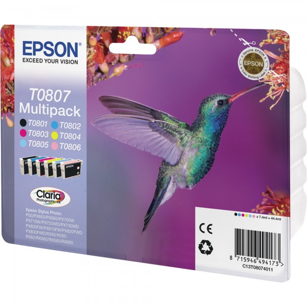 Epson Tintenpatrone C13T08074011 sw/c/m/y/fc/fm 6 St./Pack.
