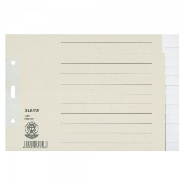 Leitz Register 12260085 DIN A5 quer blanko volle H