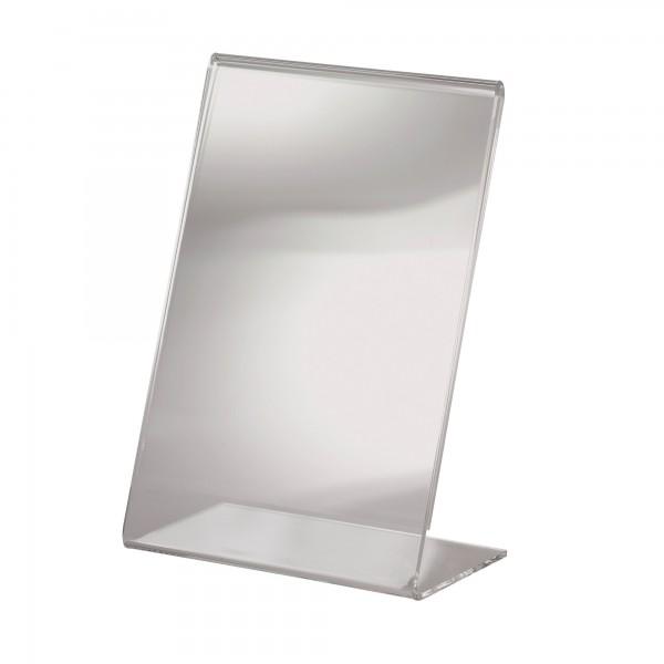Sigel Tischaufsteller TA214 DIN A6 106x155mm L-Form Acryl glasklar