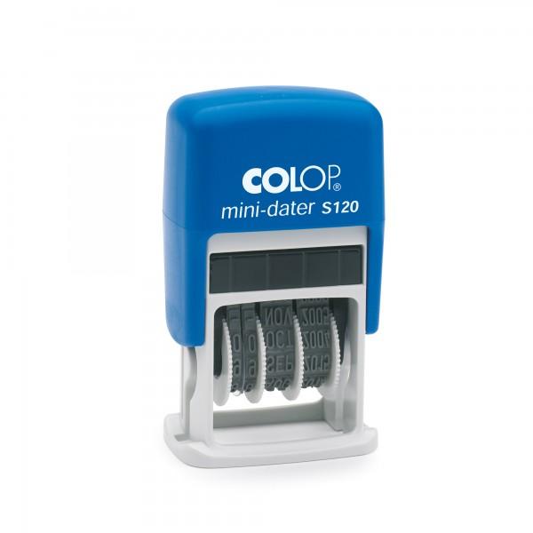 COLOP Datumstempel mini-dater S120 1452000200 24mm Kunststoff blau