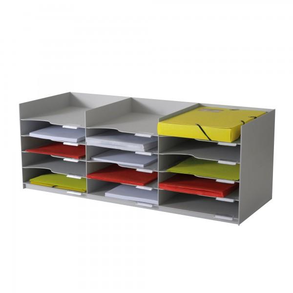 Paperflow Dokumentenablage easyOffice 85,7 x 31,3 x 32,7 cm (B x H x T) Polystyrol grau